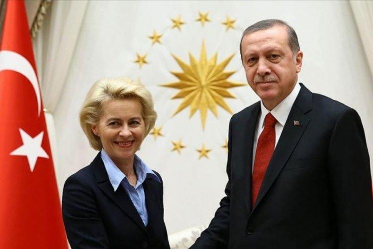 Cumhurbaşkanı Erdoğan, Ursula von der Leyen ile görüştü