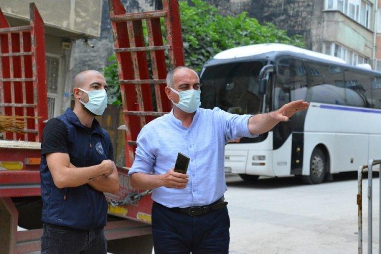 Bursa Gemlik Balıkpazarı yolları yenileniyor
