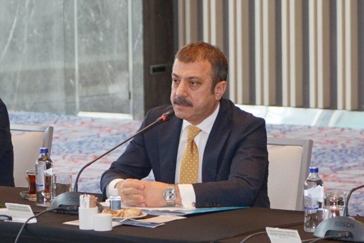 Şahap Kavcıoğlu, bankacılarla görüştü