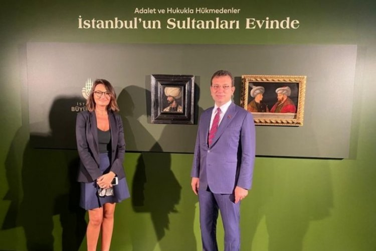 İBB'ye bağışlanan Kanuni Sultan Süleyman portresi Saraçhane'de