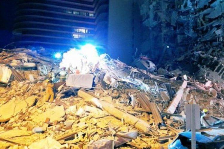 ABD'de felaket! Florida'da bina çöktü, enkaz altında kalanlar var!