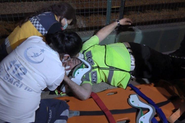 Bursa'da uygulama noktasına dalan alkollü sürücü: Polis otosu tersten geliyor diye gördüm