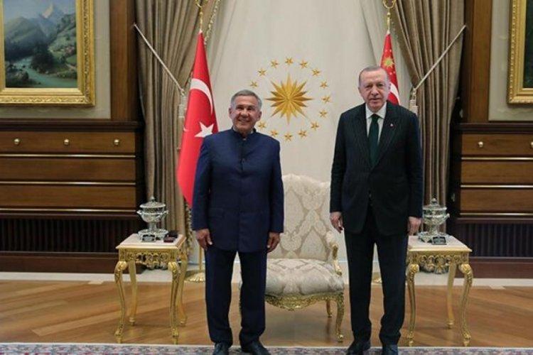 Cumhurbaşkanı Erdoğan, Tataristan Cumhurbaşkanı ile görüştü