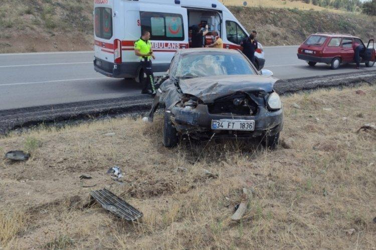 Kırıkkale'de kaza: 4 yaralı