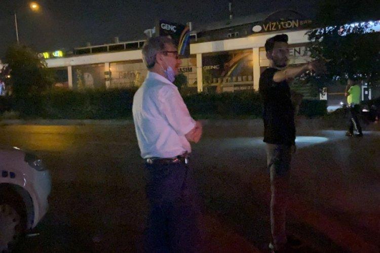 Bursa'da sürücü değiştirirken yakalandı cezadan kaçamadı