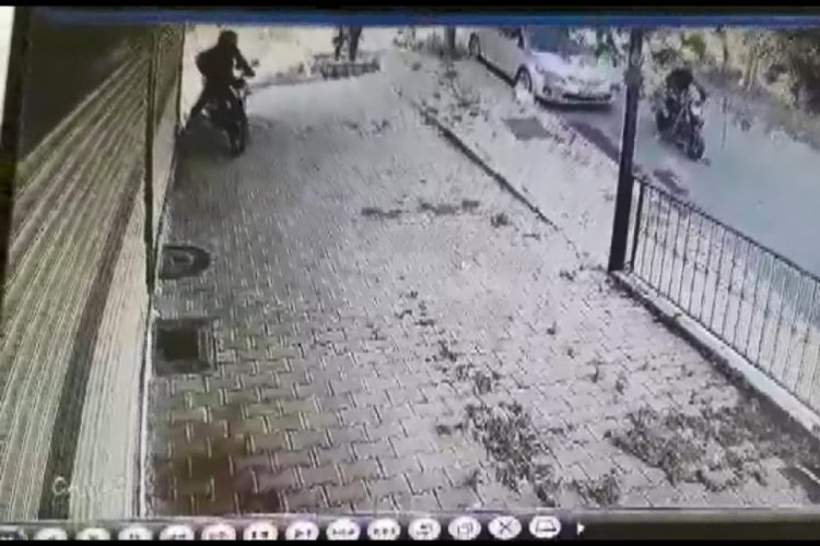 Motosiklet hırsızları kamerada