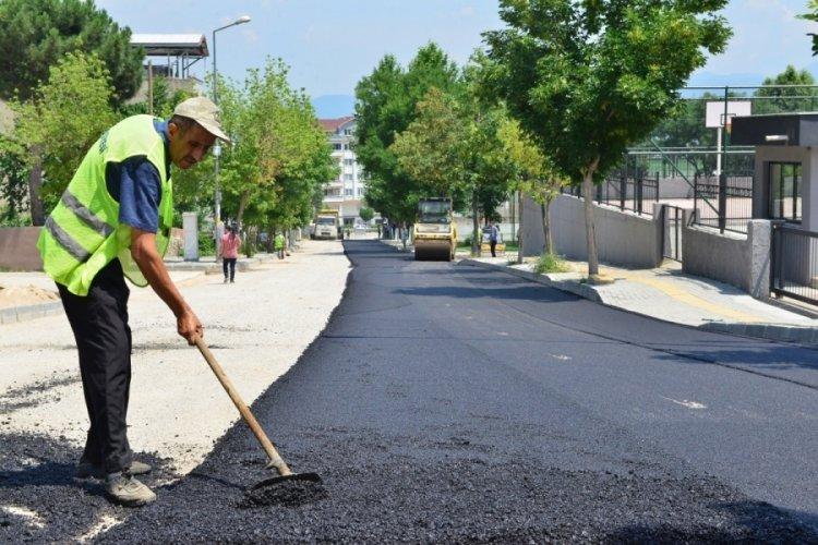 Bursa Yıldırım'da çevreci asfalt