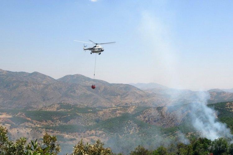 Bingöl'de iki gündür süren orman yangınına havadan ve karadan müdahale ediliyor