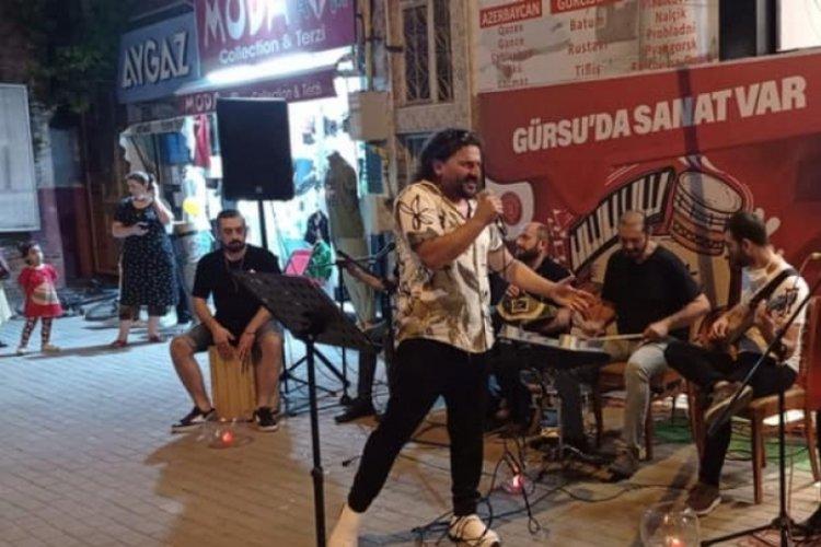 Bursa'nın Gürsu ilçesi sokak konserleri ile renkleniyor