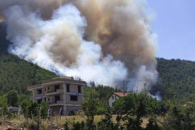 Denizli'de ormanlık alanda yangın çıktı