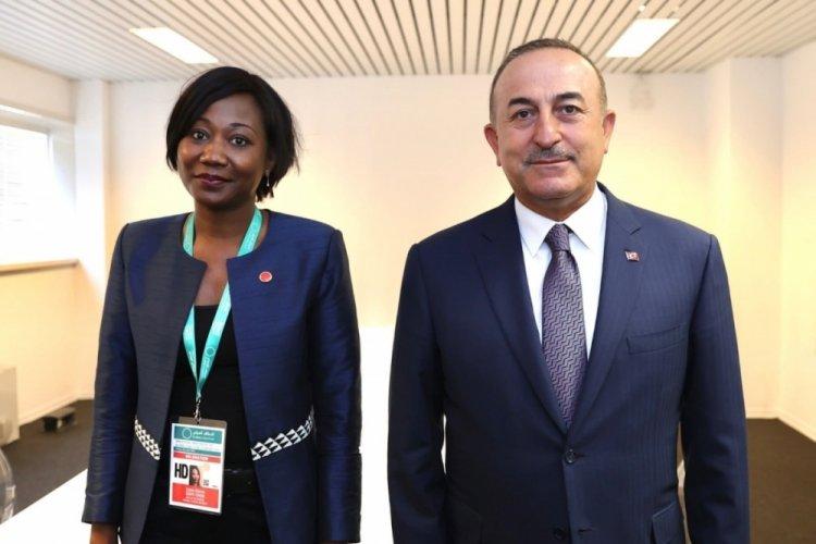 Bakan Çavuşoğlu, Orta Afrika Cumhuriyeti Dışişleri Bakanı Temon ile görüştü