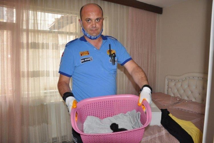 Bursa'da itfaiyeden kedi operasyonu