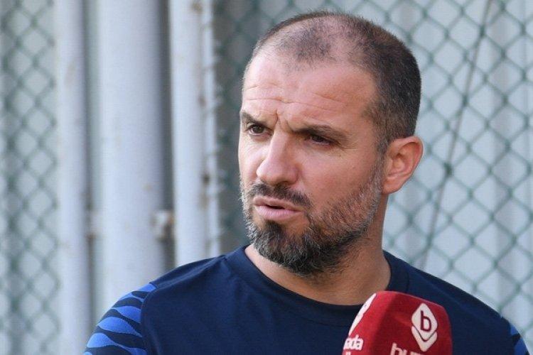 Bursaspor Teknik Direktörü Mustafa Er, ilk antrenman öncesi açıklamalarda bulundu