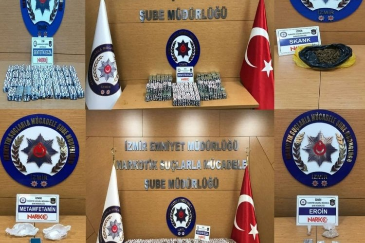 İzmir'de uyuşturucu operasyonlarında 28 tutuklama
