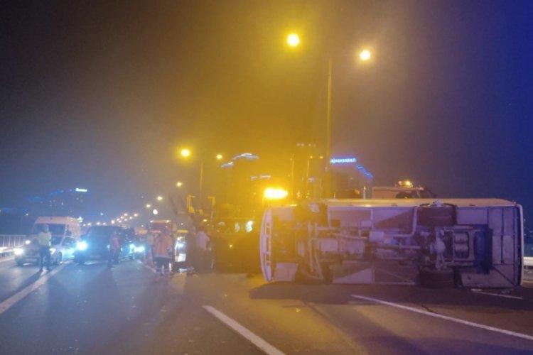 TEM Otoyolu'nda feci kaza: Çok sayıda ekip sevk edildi
