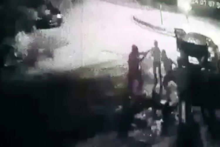 Restoran çıkışında öldüren dayak kamerada