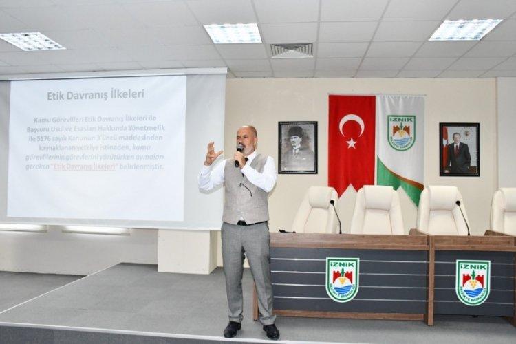 Bursa'da belediye personeli eğitimde buluştu