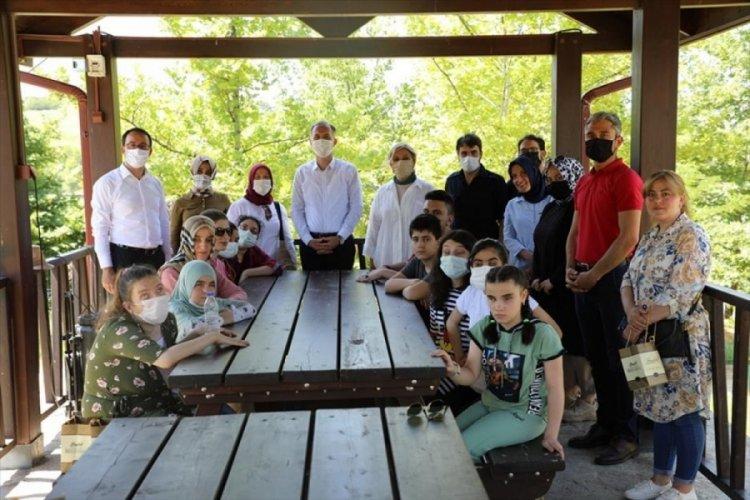 Bursa İnegöl'de görme engelli öğrenciler, DOSTUM'a misafir oldu