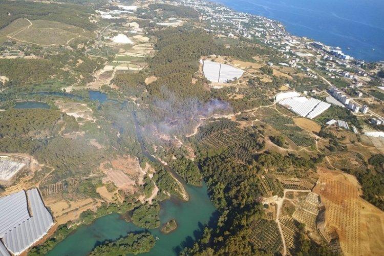 Alanya'da orman yangını söndürüldü