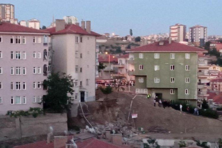 Ankara'da inşaat kazısından zarar gören 5 bina tahliye edildi