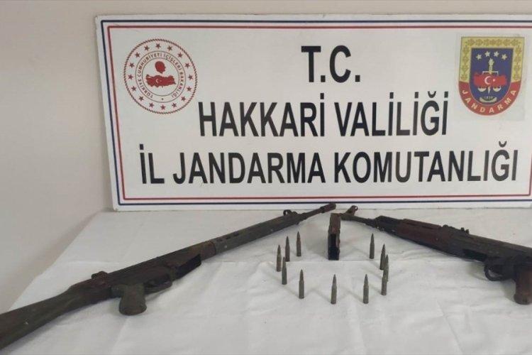 Yüksekova'da teröristlere ait mühimmat ele geçirildi