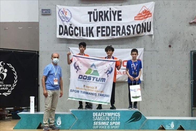 Spor tırmanışta Türkiye Şampiyonu İnegöl'den