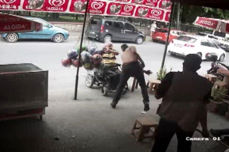 Engellileri döven saldırgan tutuklandı!