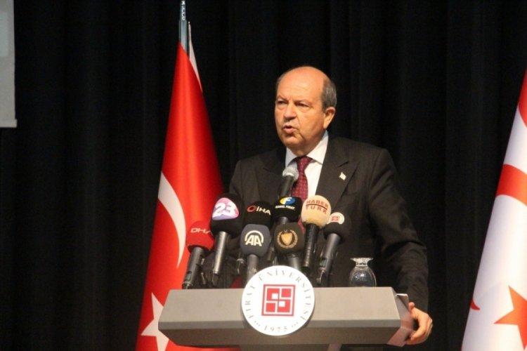 KKTC Cumhurbaşkanı Tatar: Türkiye Kıbrıs'a 1974'te barışı getirdi, halen sürmektedir