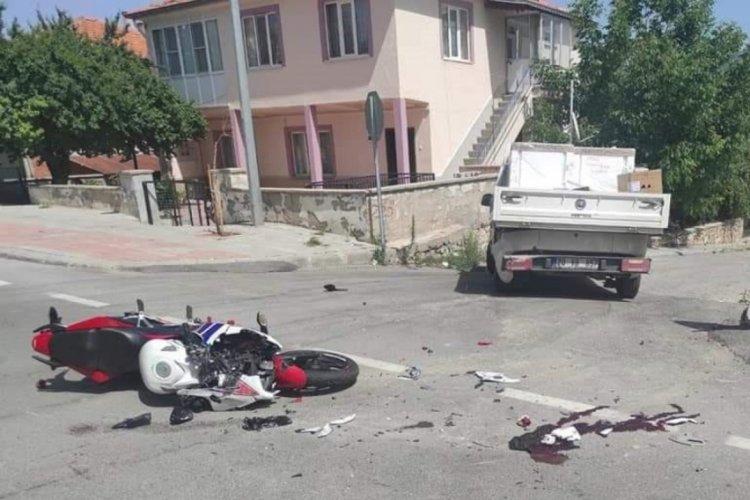 Motosiklet sürücüsü ağır yaralandı