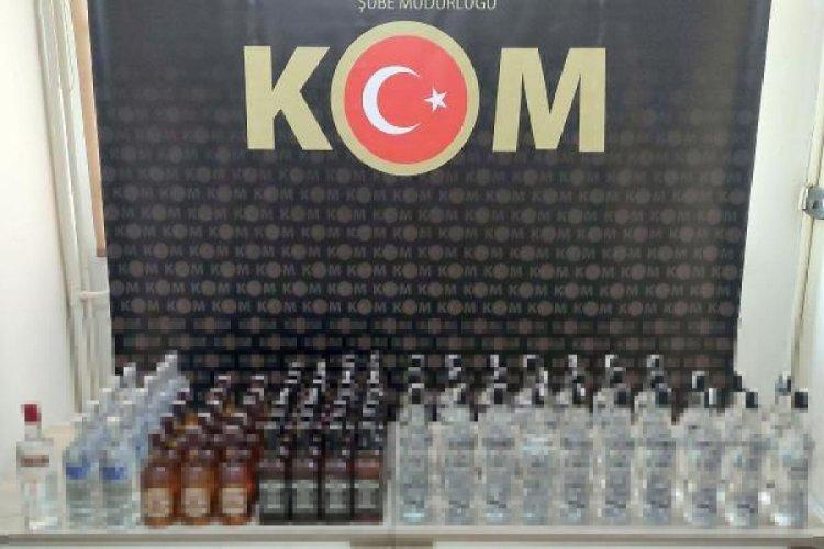 82 şişe kaçak içki ele geçirildi