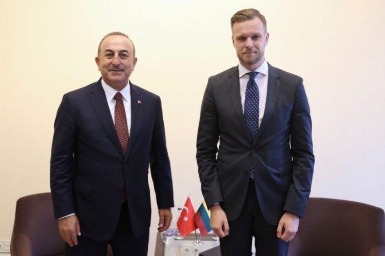 Bakan Çavuşoğlu, Litvanyalı mevkidaşı Landsbergis ile görüştü