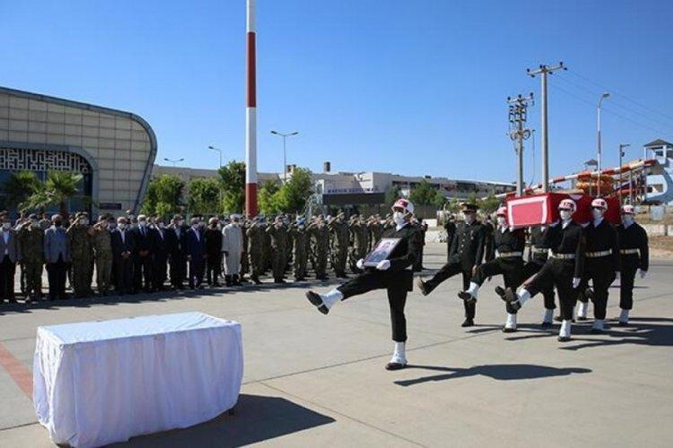 Mardin'de şehit olan asker için tören yapıldı