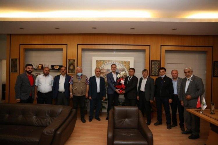 Muhtarlar Derneği'nden Bursa İnegöl Belediye Başkanı Taban'a ziyaret