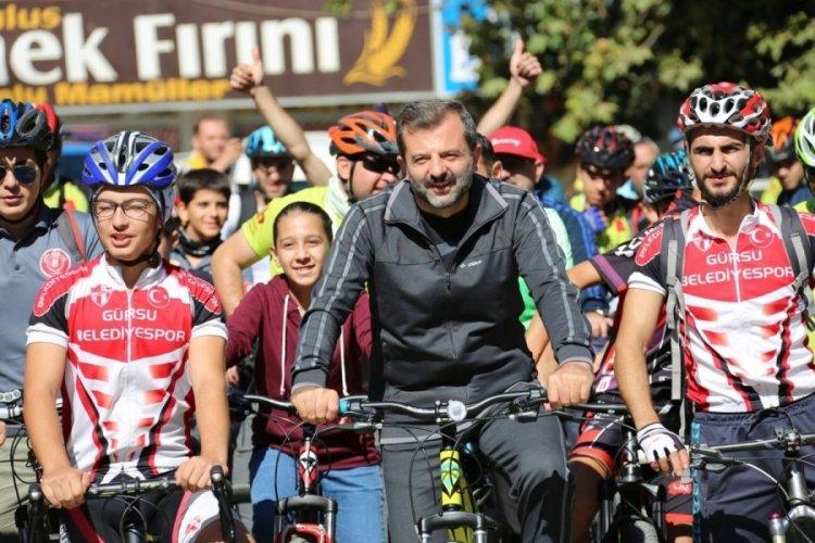 Bursa'da bisiklet tutkunları, Gürsu'nun doğasında yarışacak