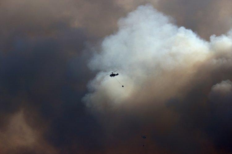 İzmir'deki yangına müdahale devam ediyor