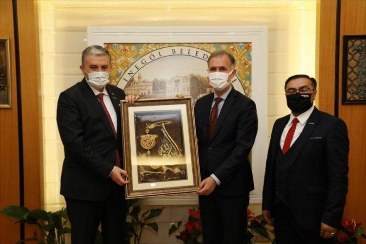 Bursa İnegöl Belediye Başkanı Taban'a MÜSİAD'dan ziyaret