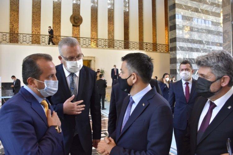 Bursa Karacabey Belediye Başkanı Ali Özkan, Melis'te bakanlarla görüştü