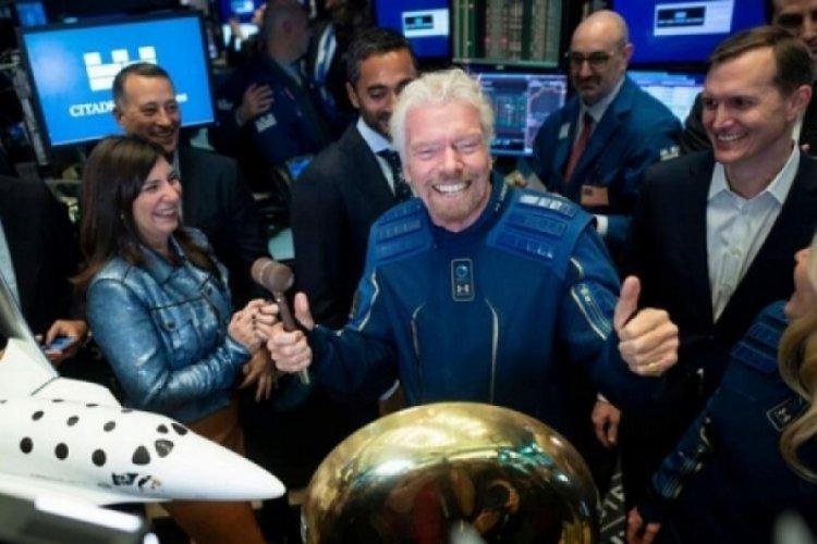 İş insanı Richard Branson uzaya çıktı!