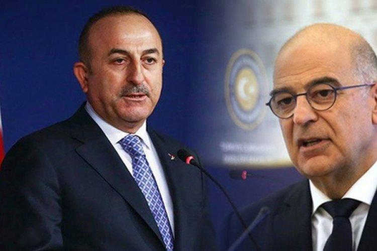 Bakan Çavuşoğlu, skandal sonrası Yunan mevkidaşı ile görüştü