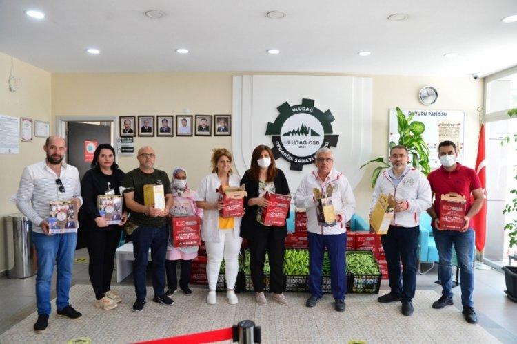 Bursa Uludağ OSB'den çalışanlara erzak dağıtımı