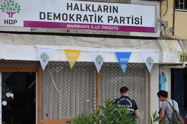 Marmaris'te HDP ilçe binasına saldırı