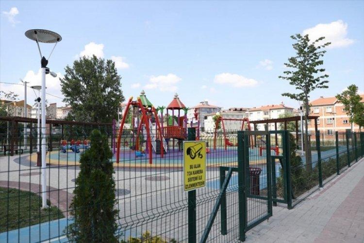 Bursa İnegöl'de 16 park 53 güvenlik kamerasıyla donatıldı