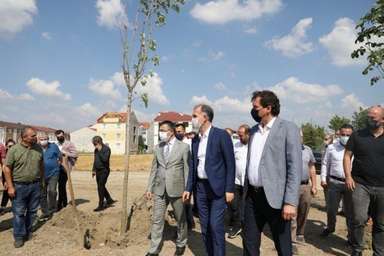 Bursa İnegöl'de 251 şehit anısına 251 ağaç toprakla buluştu