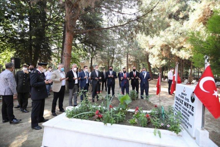 Bursa İnegöl'de 15 Temmuz anma programları şehitlik ziyaretiyle başladı
