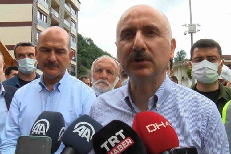 3 bakan, Rize'de afet bölgesinde incelemelerde bulundu