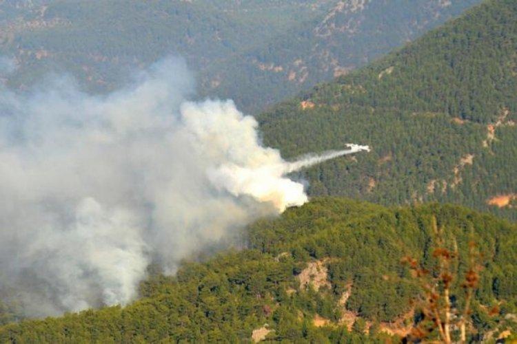 Mersin'deki orman yangınına, yeniden havadan müdahale başladı!