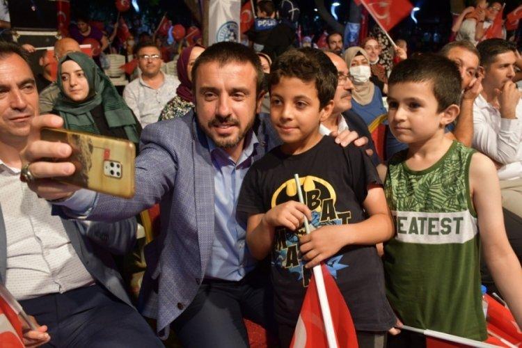"""Bursa Kestel Belediye Başkanı Tanır: """"Türk milleti mazluma karşı Yunus, zalime karşı Yavuz oldu''"""