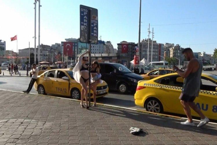 İstanbul'da sokakları podyum gibi kullandılar!