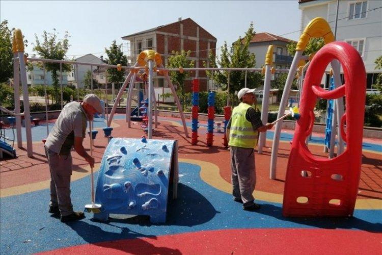 Bursa İnegöl'de bayram temizliği sürüyor