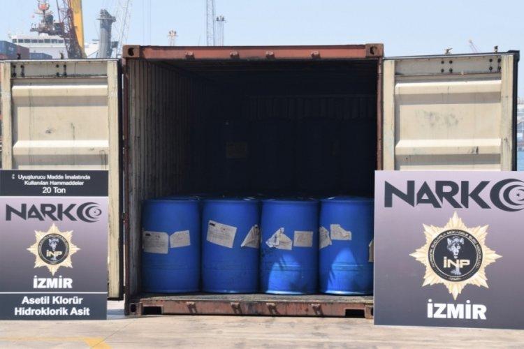 İzmir'de 26 ton uyuşturucu ele geçirildi
